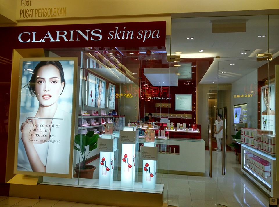 Clarins skin spa pavilion beauty centre in bukit bintang for Clarins salon