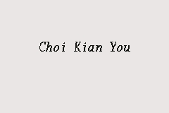 Choi Kian You Picture