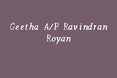 Geetha A/P Ravindran Royan business logo picture