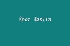 Khor Wanlin Picture