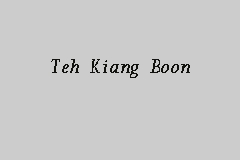Teh Kiang Boon Picture