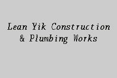 Lean Yik Construction & Plumbing Works business logo picture