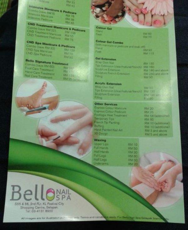 Bello nail spa nail salon in setapak for Bello salon