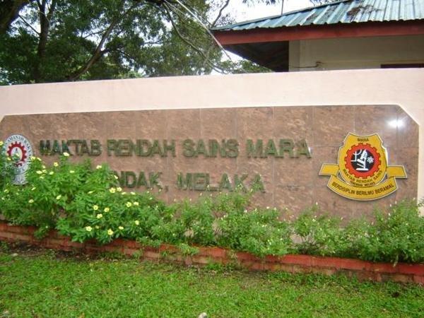 MRSM Terendak, Maktab Rendah Sains MARA in Melaka