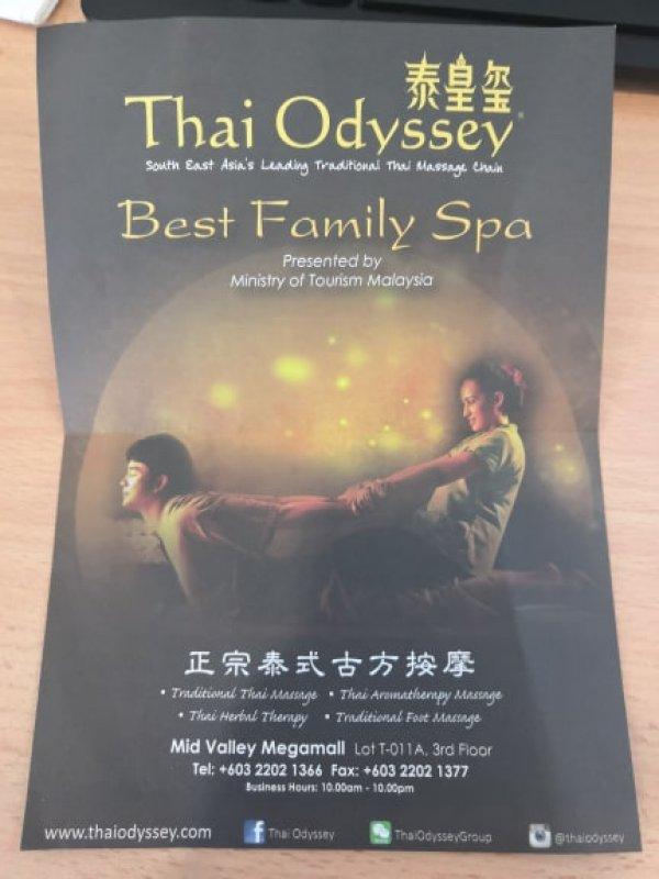 Thai Odyssey Mid Valley Megamall (2nd Floor), Massage Centre