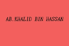 AB.KHALID BIN HASSAN business logo picture