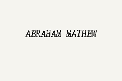 ABRAHAM MATHEW business logo picture