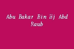 Abu Bakar Bin Hj Abd Raub Interior Designer In Shah Alam