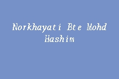 Norkhayati Bte Mohd Hashim business logo picture