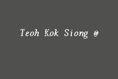 Teoh Kok Siong 张国祥@张飞祥 business logo picture