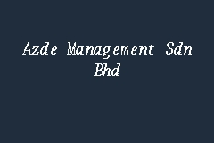 Azde Management Sdn Bhd business logo picture