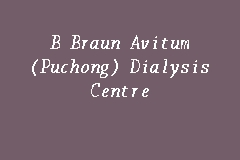 B Braun Avitum (Puchong) Dialysis Centre business logo picture