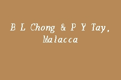 B L Chong & P Y Tay, Malacca business logo picture