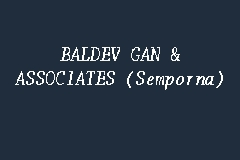 BALDEV GAN & ASSOCIATES (Semporna) business logo picture