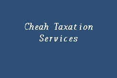 Cheah Taxation Services business logo picture