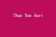 Chua Yaw Huei business logo picture