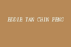 EDDIE TAN CHIN PENG business logo picture