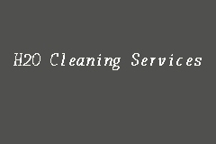 H2O Cleaning Services business logo picture
