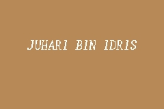 JUHARI BIN IDRIS business logo picture