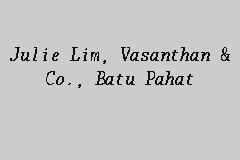 Julie Lim, Vasanthan & Co., Batu Pahat business logo picture