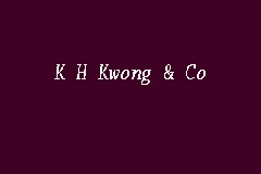 K H Kwong & Co business logo picture