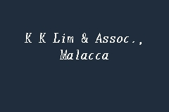 K K Lim & Assoc., Malacca business logo picture