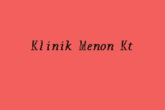 Klinik Menon Kt business logo picture