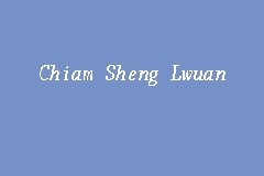 Chiam Sheng Lwuan business logo picture