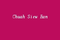 Chuah Siew Ean business logo picture
