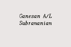 Ganesan A/L Subramaniam business logo picture