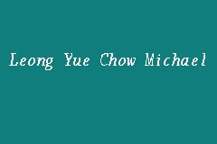 Leong Yue Chow Michael business logo picture