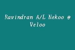 Ravindran A/L Nekoo @ Veloo, Peguam in Brickfields