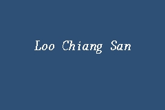 Loo Chiang San business logo picture