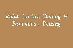 Mohd Imtiaz Choong Partners Penang Firma Guaman In Church Street