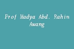 Prof Madya Abd Rahim Awang Interior Designer In Shah Alam