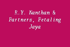 R.Y. Nanthan & Partners, Petaling Jaya business logo picture