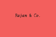 Rajan & Co. business logo picture