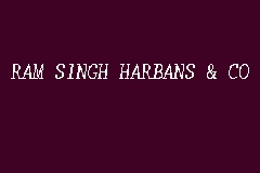 RAM SINGH HARBANS & CO business logo picture