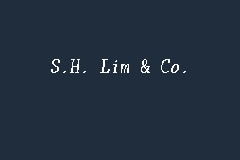 S.H. Lim & Co. business logo picture