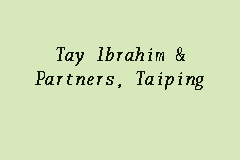 Tay Ibrahim & Partners, Taiping business logo picture