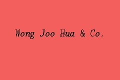 Wong Joo Hua & Co. business logo picture