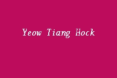 Yeow Tiang Hock business logo picture