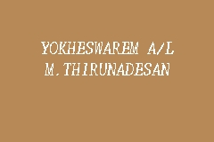 Yokheswarem A/L M.Thirunadesan business logo picture